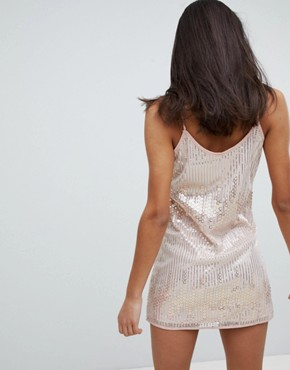 photo Emebellished Mini Dress with Choker Detail by Love & Other Things, color Pink - Image 2