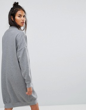photo Polo Neck Dress by Calvin Klein Jeans, color Mid Grey Heather - Image 2