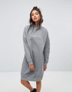 photo Polo Neck Dress by Calvin Klein Jeans, color Mid Grey Heather - Image 1