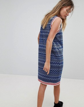 photo Glitter Stripe Dress with Tipping Detail by Diesel, color Blue - Image 2