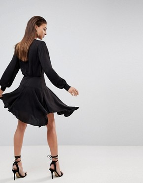 photo Hunter Waterfall Hem Dress by Finders Keepers, color Black - Image 2