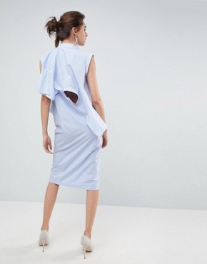 photo Multi Sleeve Dress by ASOS WHITE, color Pale Blue - Image 2