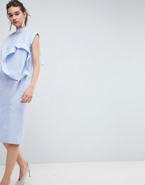 photo Multi Sleeve Dress by ASOS WHITE, color Pale Blue - Image 1