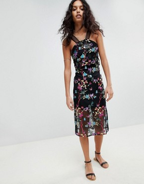 photo Embroided Dress with Racer Strap Detail by RD & Koko, color Black - Image 1