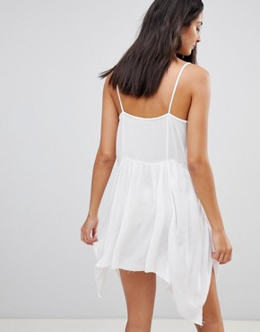 photo Floral Cross Stitch Embroidered Strappy Beach Sundress by ASOS, color White - Image 2