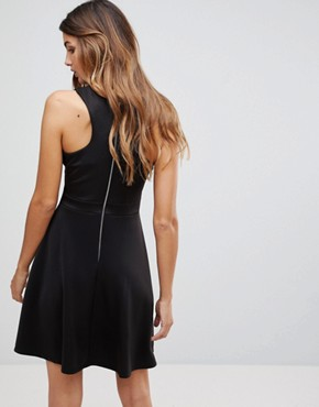 photo Skater Dress with Deep Mesh Insert by Wal G, color Black - Image 2
