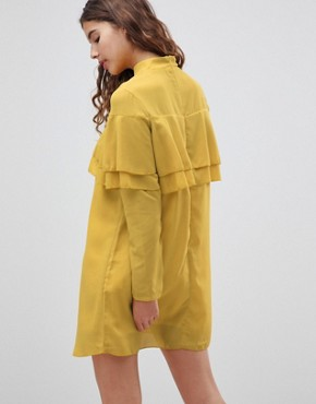 photo Neon Frill Dress by Glamorous, color Acid Yellow - Image 2