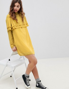 photo Neon Frill Dress by Glamorous, color Acid Yellow - Image 1