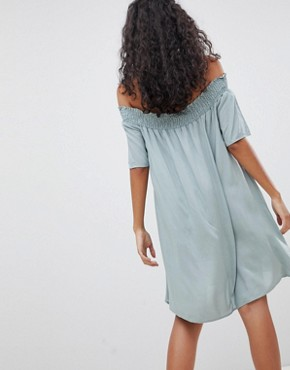 photo Off Shoulder Dress by Glamorous, color Dusty Green - Image 2