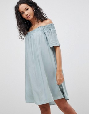 photo Off Shoulder Dress by Glamorous, color Dusty Green - Image 1