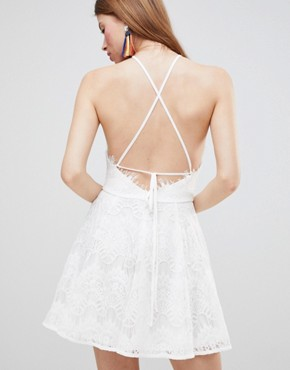 photo Skater Dress by Glamorous, color White - Image 2