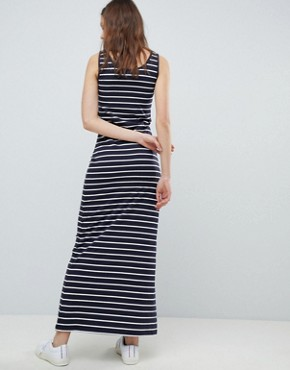 photo Abbie Stripe Maxi Dress by Only, color Night Sky/White Stripes - Image 2