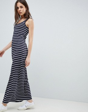 photo Abbie Stripe Maxi Dress by Only, color Night Sky/White Stripes - Image 1