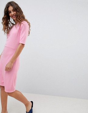 photo 3/4 Sleeve Jersey Dress by b.Young, color Bubble Gum Pink - Image 1