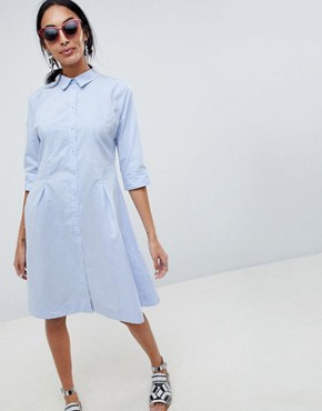 photo Shirt Dress by b.Young, color Sky Blue - Image 1