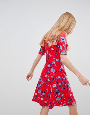 photo Floral High Neck Dress by b.Young, color  - Image 2