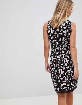 photo Floral Dress with Lace Trim by Trollied Dolly, color Black - Image 2