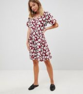 photo Boho Floral Skater Dress by Trollied Dolly, color Burgandy - Image 4