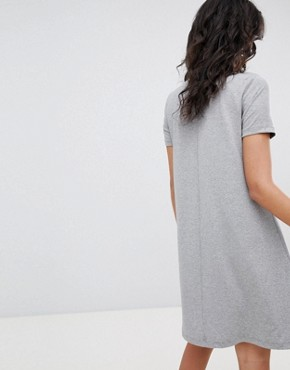 photo High Neck Swing Dress by Vero Moda, color Medium Grey Melange - Image 2