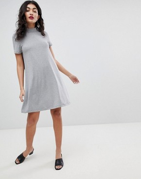 photo High Neck Swing Dress by Vero Moda, color Medium Grey Melange - Image 4