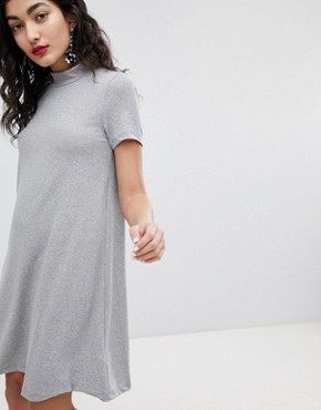 photo High Neck Swing Dress by Vero Moda, color Medium Grey Melange - Image 1