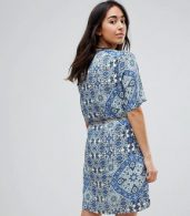 photo Printed Dress with Belt by Vero Moda, color Multi - Image 2