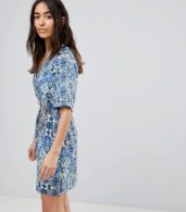 photo Printed Dress with Belt by Vero Moda, color Multi - Image 1