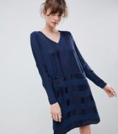 photo Stripe Shift Dress by Ichi, color Total Eclipse - Image 1
