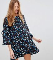 photo Floral Swing Dress by QED London, color Black - Image 1