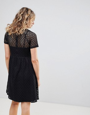 photo Lace Skater Dress by Ichi, color Black - Image 2