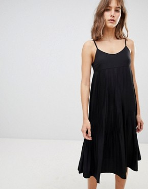 photo Cami Strap Midi Dress by Ichi, color Black - Image 1