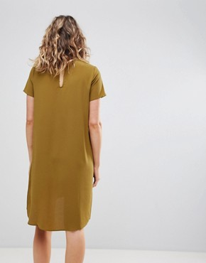 photo Wrap Front Shift Dress by Ichi, color Plantation - Image 2