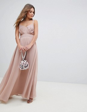 photo Side Cut Out Maxi Dress with Cami Straps by ASOS, color Nude - Image 4