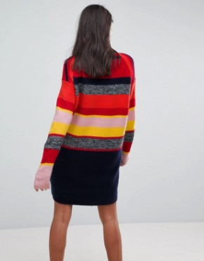 photo Knitted Oversized Dress in Stripe by ASOS, color Multi - Image 2