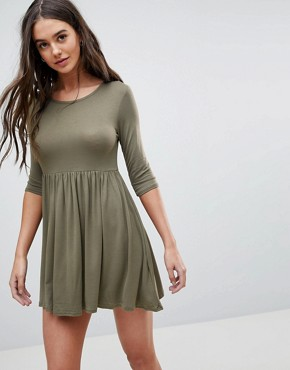 photo Smock T-Shirt Dress by Lasula, color Khaki - Image 1