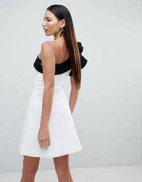 photo Mono One Shoulder Mini Dress by Forever Unique, color White - Image 2