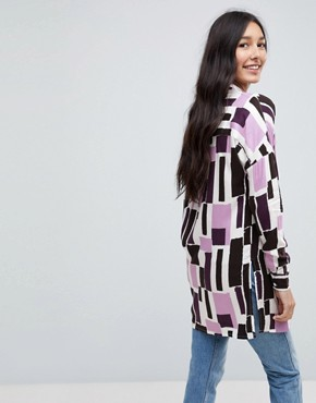 photo Graphic Print Shirt Dress by Noisy May Tall, color Multi - Image 2