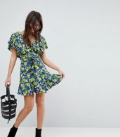photo Cotton Ruffle Sundress in Floral Print by ASOS, color Multi - Image 4
