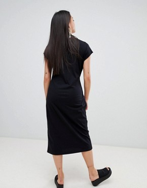 photo Else Shoelace Tie Dress by Cheap Monday, color Black - Image 2