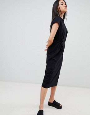 photo Else Shoelace Tie Dress by Cheap Monday, color Black - Image 1