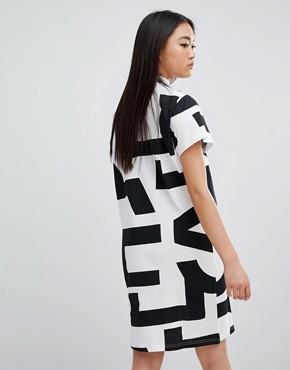 photo Mega Text Smash Dress by Cheap Monday, color White - Image 2