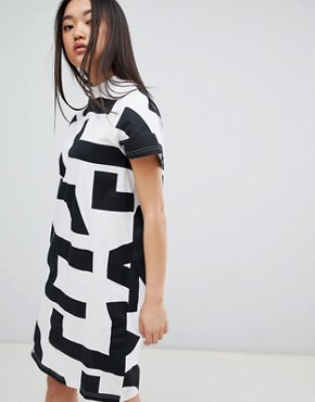 photo Mega Text Smash Dress by Cheap Monday, color White - Image 1