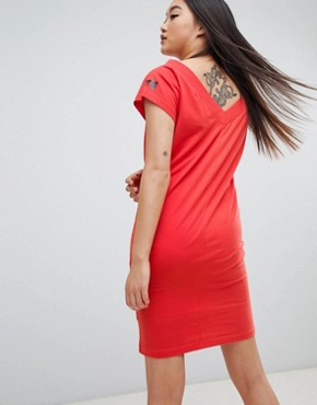 photo Yang Logo Fine Dress by Cheap Monday, color Coral - Image 2