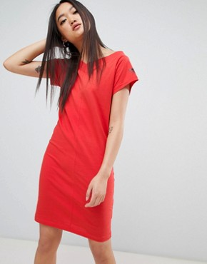 photo Yang Logo Fine Dress by Cheap Monday, color Coral - Image 1