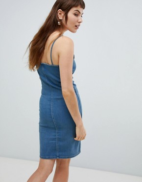photo Spray on Denim Slip Dress by Cheap Monday, color Blue Sands - Image 2