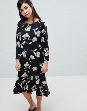 photo Floral Print Sweater Dress by Soaked in Luxury, color Multi - Image 1