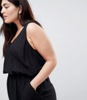 photo Casual Mini Dress in Grid Texture by ASOS CURVE, color Black - Image 3