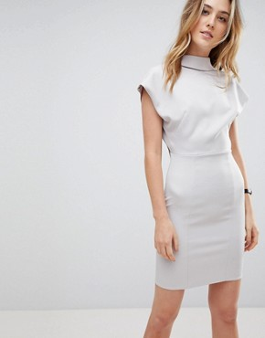 photo Sexy Open Back Sash Mini Dress by ASOS TALL, color Grey - Image 2