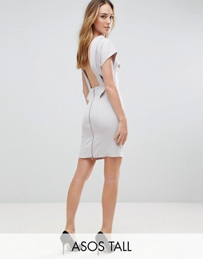 photo Sexy Open Back Sash Mini Dress by ASOS TALL, color Grey - Image 1