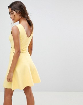 photo Knitted Full Prom Midi Dress by Morgan, color Yellow - Image 2